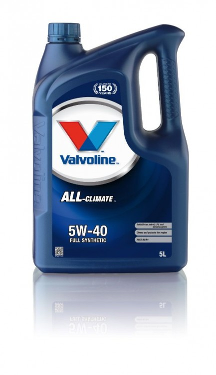 Моторное масло Valvoline ALL CLIMATE SAE 5W-40, 5л